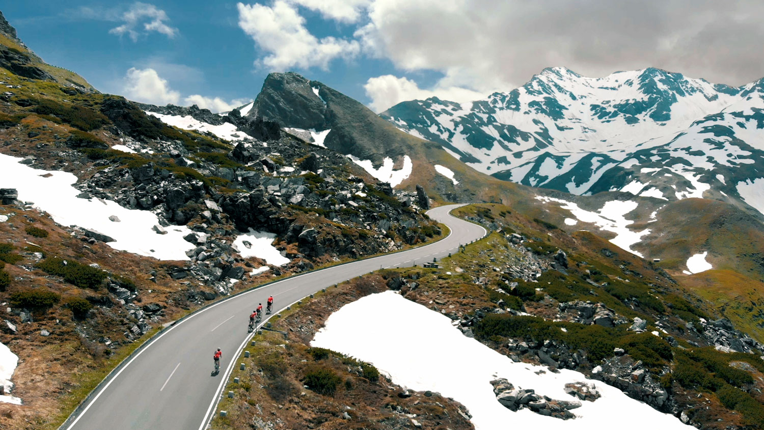 road biking in alps